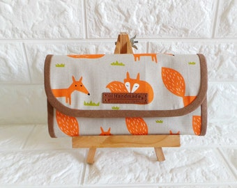 Flap Accordion Ladies Everyday Fabric Long Wallet (V2) - *Fox*