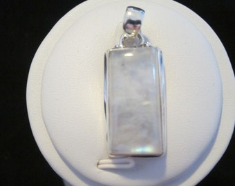 Rainbow Moonstone Sterling Silver Pendant (7)