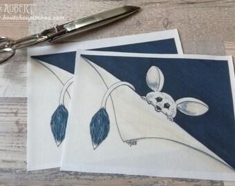 Illustrated fabric coupon - polycotton 22.5 x 16.5 cm