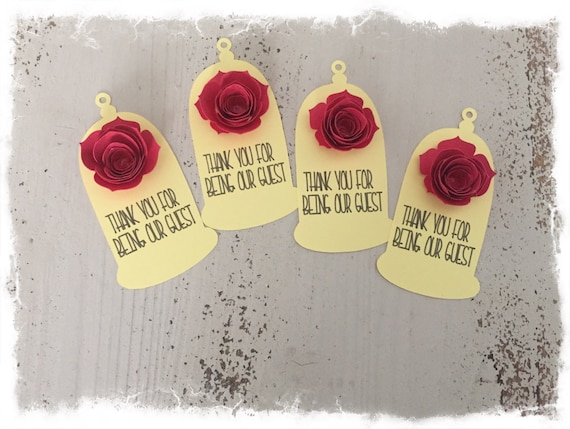 Beauty And The Beast Be Our Guest Customizable Tags Birthday