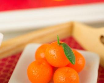 Miniature Mandarin Oranges - Chinese New Year - Lunar New Year - 1:12 Dollhouse Miniature