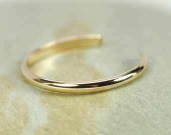 Gold Toe Ring, 14K Yellow Gold fill, Half Round, Adjustable, Simple, Everyday, Kristin Noel Designs