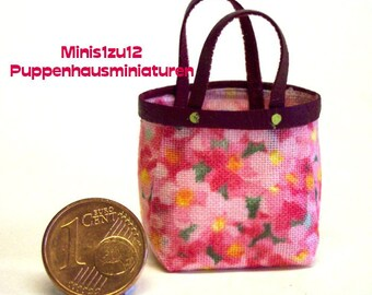 4002# Miniatur Shopping Bag  - Doll house miniature scale 1/12