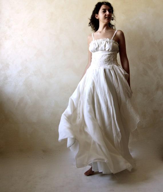 Bohemian wedding dress Bridal Gown Celtic wedding dress