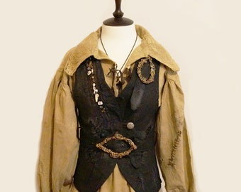 PIRATE VEST for ADULTS/Halloween costume/vest for woman/Jack Sparrow/pirates of the Caribbean/Pirate/Captain Hook/ Pirate Birthday