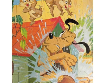 Vintage Pluto puzzle -vintage Walt Disney puzzle - vintage puzzle for children -Cartoon art work -vintage child's puzzle  - # 4