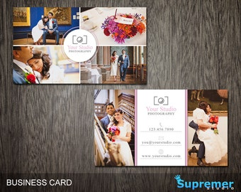 Photography Business Card Template - Business Card for Photographers Photoshop Templates PSD - BC009