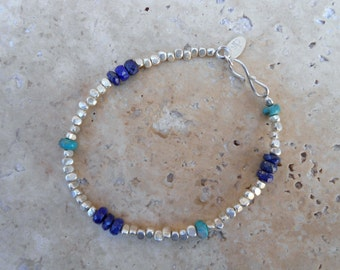 Sapphire and Turquoise Meet Silver