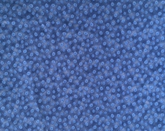Blue Flannel Northcott  Chick Chat #840  1/2 yard Circles
