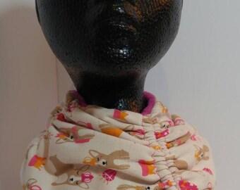 Toddler cowl - CORGIS! - upcycled tshirt toddler neckwarmer