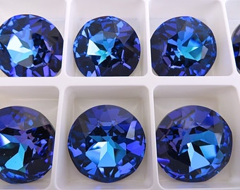 1 Crystal Heliotrope Swarovski  Rivoli Stone 1201 27mm