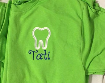 Monogrammed Dental T-shirt - Adult and Youth Sizes