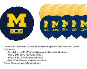University of Michigan Balloons, U of M Balloons