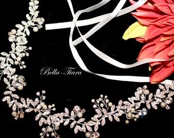 Perle Haar Weinstock, Kristall-Haar-Rebe, hochzeitshaare, hochzeitsstirnband, Haarkranz, Hochzeit Kopfschmuck