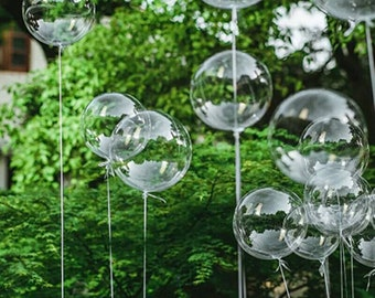 """Clear Bubble Balloons, 20"""" & 24"""" in size, Clear Balloons, Wedding, Engagement, Balloons, gorgeous Clear Bubble Mylar Balloons, Pkt of 1 Bln"""