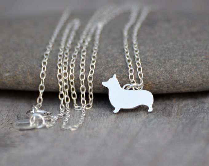 Corgi Necklace In Sterling Silver, Handmade In The UK