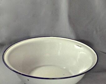 Vintage French Enamel Bowl