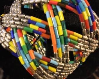 Vintage Raibow Cuff Bracelet
