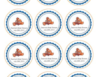 Finding Nemo Printable Cupcake Toppers or Tags
