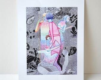 A3 Art Print. Wall Art. Illustration- D.I.D