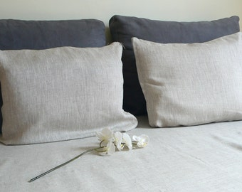 Linen duvet cover. Queen size linen duvet cover and 2 pillowcases set, ECO Certified linen fabric, linen bedding,