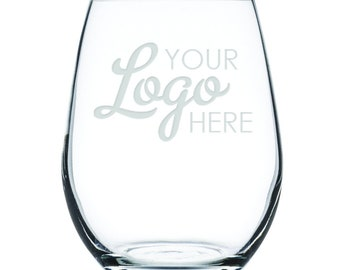 Customized Stemless White Wine Glass-17 oz.-25011 Your Logo Here!