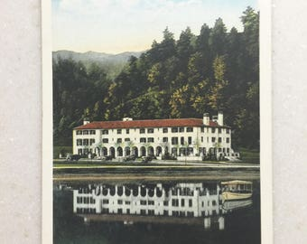 Vintage Postcard North Carolina Lake Lure Inn Lake Lure NC Land of the Sky 1928
