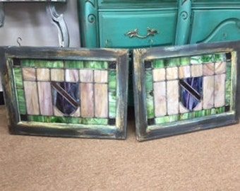 """Set of """"Shield"""" Stained Glass Windows"""