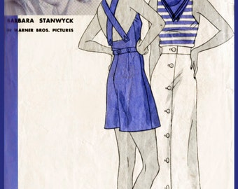 1930s 30s vintage playsuit sewing pattern women's beach romper overalls bust 32 b32 repro reproduction