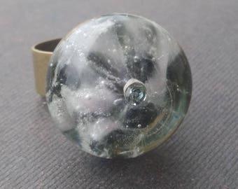 "Ring ""Windmill"" handmade Lampwork Glass"