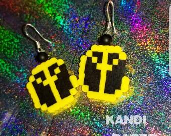 Yellow Claw Mini Perler Earrings