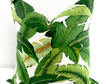 Palm Pillow. Emerald. Island Hopping. Tommy Bahama  Palm Pillow.  Indoor Outdoor Pillow. Sofa pillow cover.  cover Choose your size.
