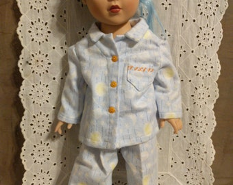 """Blue Pajamas for 18"""" Doll_Clothes for Dolls"""