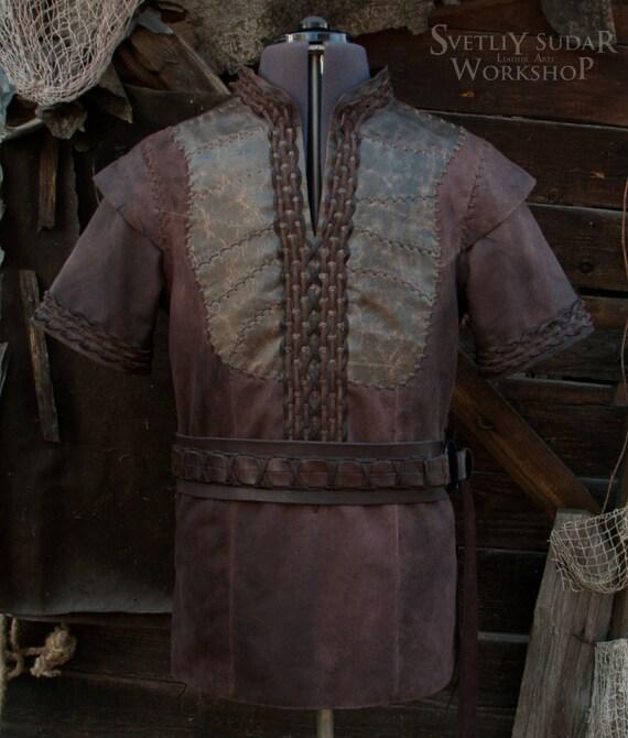 Viking Leather Jacket inspired Ragnar Lothbrok / custom size