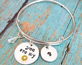 You Are My Sunshine - My Only Sunshine - Sunshine Bracelet - Sunshine Jewelry - Bracelet - Gift for Girls - Gift for Mom - Birthday
