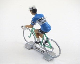 Cyclist Gift Fausto Coppi Cycling Figure - Tour De France - Bianchi 1952 - cycle, cycling, road bike, peloton.