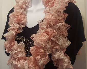 Light Pink Ruffled Scarf