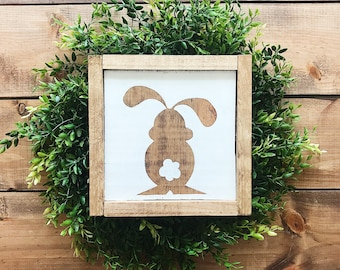 Famhouse bunny sign, Easter, sign, wood sign, home decor