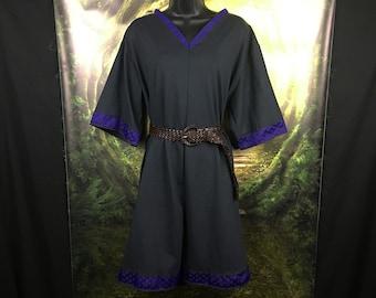 Viking Tunic - V Neckline - Viking Garb - Viking Clothing - Viking Costume - Viking Wedding Tunic - Viking Womens Tunic - Viking Reenactment