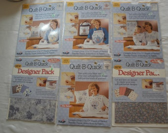 Lot of 6 Vintage Tulip Quilt-B-Quick Transfer Patterns New Old Stock - Discontinued Items - Hard to Find
