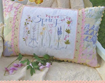 Crabapple Hill Spring Sampler Pillow Pattern and Cosmo Floss Kit CH 236