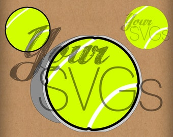 SVG Tennis Ball Card - Layered Images for Electronic Die Cutting Machines - Sports - Crafts - Cards - Cutting File - Shaped Card