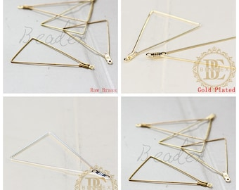 Brass Base / Pendant / Charm / Earring Component / Triangle (C3293//F97)