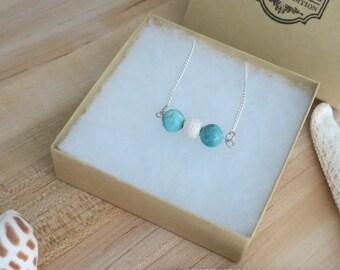 Lava Rock Diffuser Necklace   Essential Oil   Beaded Necklace   Chain Necklace   Minimal Bead Necklace   Dainty Bead Necklace