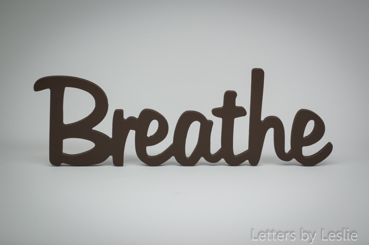 Wooden wall word decor breathe wooden wall sign wooden for Decor dreams