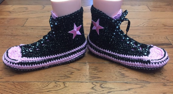 top sneaker Crocheted crocheted black 8 238 slippers Womens slippers pink converse slippers tennis high high converse 10 tops converse shoe r5IxpwPI4q