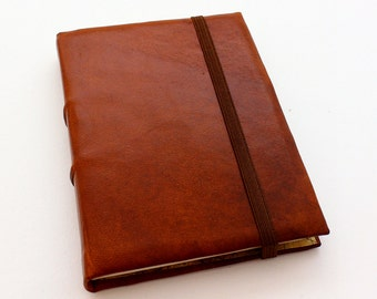 Brown Leather A6 Journal w/ Tomoe River