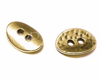 25%OFF Hammered Oval button, Antique Bronze Two Hole Buttons European charm Quality hypoallergenic Greek Metal DIY TH170, 4pcs