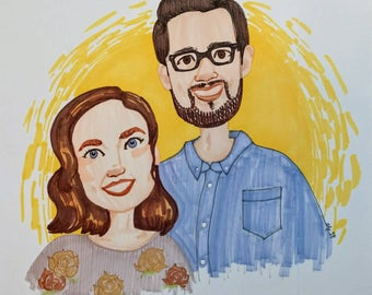 Custom portrait - family, friends and loved ones