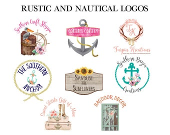 Rustic Logo - Nautical Logo - Beach Logo - Custom Logo Design - Logo Design - Business Branding - Business Logo - Vector Logo - Etsy Cover